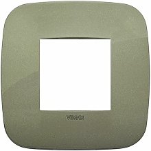 Placca Round 2M verde scatola rotonda Vimar Arkè