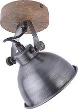 Plafoniera industriale acciaio legno - SAMIA