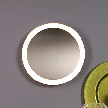 Plafoniera LED Moon Ø 40 cm, argento