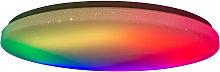 Plafoniera LED Rainbow, dimming RGBW luce notturna