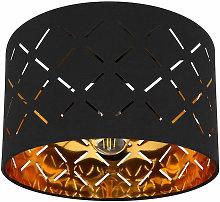 Plafoniera oro nero 1 fiamma lampada soggiorno