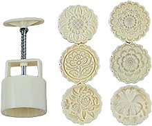 Plastic Mooncake Stampo 100g 3D Flower Stamp