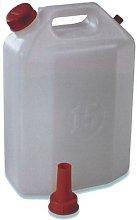 Plastime 3514 1 Tanica con Rubinetto, 25 l, Bianco