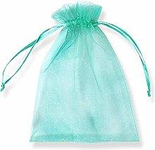 PLECUPE 100 Pezzi Trasparente Organza Bag