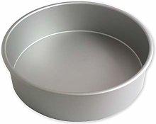 PME RND113 Teglia Professionale, Alluminio, Argento