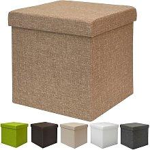 Poggiapiedi a cubo 38cm apribile contenitore