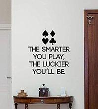 Poker Wall Art Sticker Decorazione Della Casa