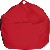 Poltrona A Sacco Pouf Comodone In Nylon Rosso Fadi