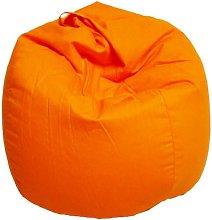 Poltrona A Sacco Pouf In Cotone Arancio - Avalli