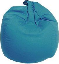 Poltrona A Sacco Pouf In Cotone Blu - Avalli