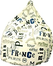 Poltrona A Sacco Pouf In Cotone Design Paris City