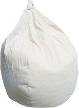 Poltrona A Sacco Pouf In Cotone Ecru - Avalli