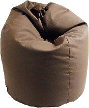 Poltrona A Sacco Pouf In Cotone Marrone - Avalli