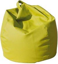 Poltrona A Sacco Pouf In Eco Pelle Verde Acido -