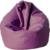 Poltrona A Sacco Pouf In Eco Pelle Viola Avalli