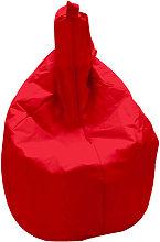 Poltrona A Sacco Pouf In Nylon Rossa Avalli