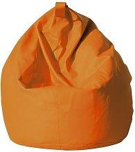 Poltrona A Sacco Pouf In Similpelle Arancio Avalli
