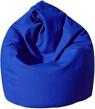 Poltrona A Sacco Pouf In Similpelle Blu Avalli
