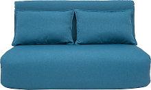Poltrona convertibile 2 posti design blu anatra