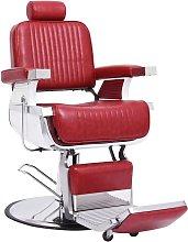 Poltrona da Barbiere Rossa 68x69x116 cm in