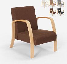 Poltrona in legno design scandinavo ergonomica