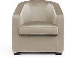 Poltrona JIM in velluto made in italy beige
