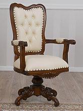 Poltrona Kimberly stile Inglese sedia girevole
