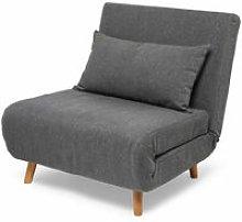 Poltrona letto - colore grigio