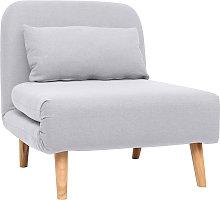 Poltrona letto convertibile in tessuto grigio