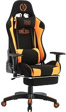 Poltrona Professionale Gaming nero/arancio Tessuto