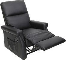Poltrona relax design manuale nero COTY