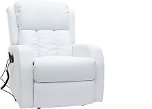 Poltrona relax elettrica massaggiante bianca GALLER