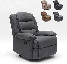 Poltrona relax in tessuto design reclinabile