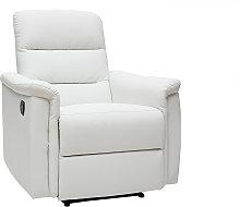 Poltrona relax manuale bianca MANDALA