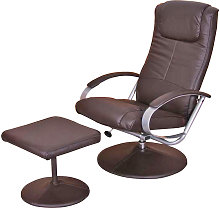Poltrona relax N44 ecopelle inclinabile con