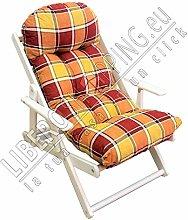 Poltrona RELAX reclinabile in 3 posizioni (Arancio)