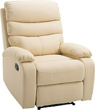 Poltrona Relax Reclinabile In Similpelle Beige