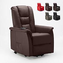 Poltrona relax reclinabile sistema alzapersona