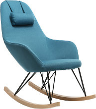 Poltrona relax - Sedia a dondolo tessuto blu