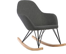 Poltrona relax - Sedia a dondolo tessuto grigio