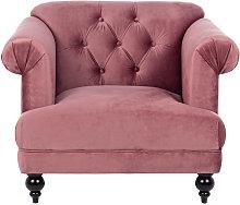 Poltrona rosa antico Blossom, 97x82x78 cm rosa