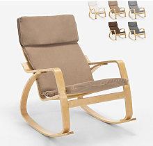 Poltrona sedia a dondolo in legno design