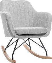 Poltrona-sedia a dondolo scandinava in tessuto
