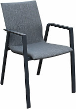 Poltrona sedia in textilene imbottito alluminio