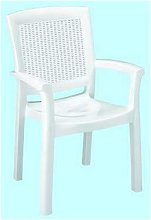 Poltrona sedia resina rattan maxi amazon bianca