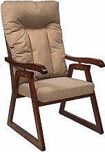Poltrona Sedia Sdraio legno reclinabile 5