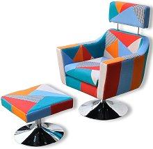 Poltrona TV Design Patchwork in Tessuto VD08076 -