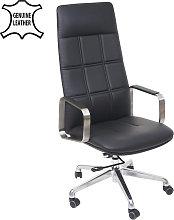 Poltrona ufficio HWC-A57 ergonomica vera pelle