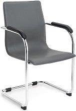 Poltrona ufficio sedia attesa slitta acciaio