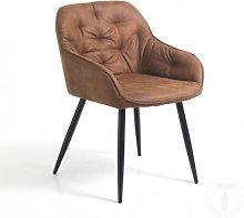 Poltroncina LOVELY in ecopelle marrone vintage